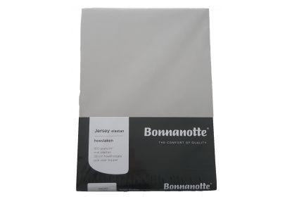 Bonnanotte jersey elastan hoeslaken lichtgrijs