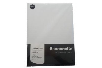 Bonnanotte jersey elastan hoeslaken wit