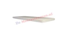 Topdekmatras traagschuim 8 cm Maatwerk trapezium met 2 schuine hoeken