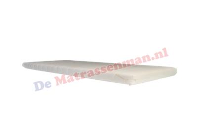 Topdekmatras traagschuim 8 cm Maatwerk met schuine inwendige hoek